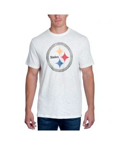 Pittsburgh Steelers '47 SCRUM Logo Short Sleeve White T-Shirt