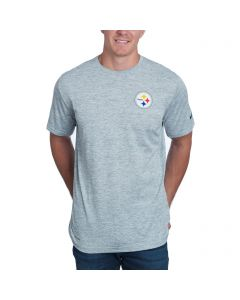 Pittsburgh Steelers Men's Nike Dri-FIT Touch Grey Short Sleeve T-Shirt