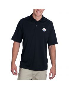 Pittsburgh Steelers Antigua Pique Xtra Lite Black Polo