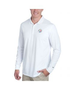 Pittsburgh Steelers Nike Golf Victory White Long Sleeve Polo