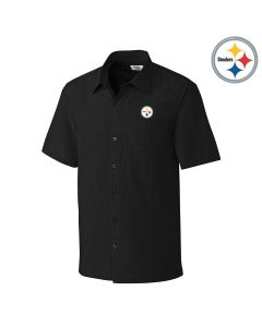Pittsburgh Steelers Cutter & Buck Solana Check Button Down Shirt