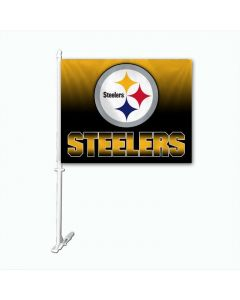Pittsburgh Steelers Ombre Car Flag