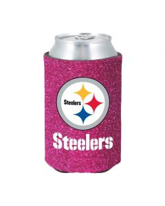 Pittsburgh Steelers Glitter Pink Can Coolie