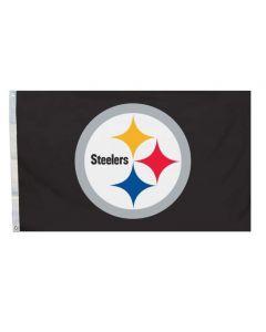 Pittsburgh Steelers Team Logo 4' x 6' Black Flag