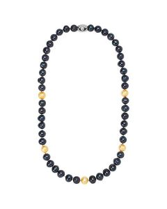 Pittsburgh Steelers Black and Gold Pearls Necklace