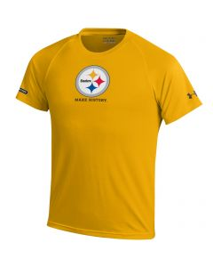 Pittsburgh Steelers Boys Under Armour NFL Combine Tech I Sweat Gold T-Shirt