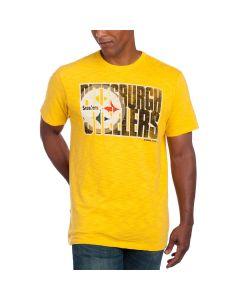 Pittsburgh Steelers '47 SCRUM Short Sleeve Gold T-Shirt