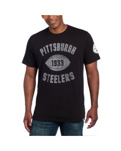 Pittsburgh Steelers '47 SCRUM Short Sleeve Black T-Shirt