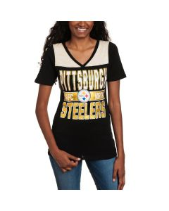 Pittsburgh Steelers Women's New Era Athletic Foil T-Shirt