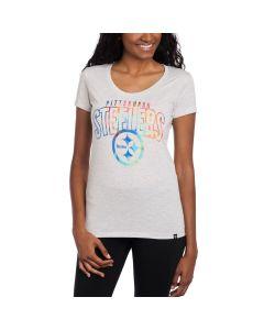 Pittsburgh Steelers '47 Women's Fantasy Short Sleeve Scoop T-Shirt