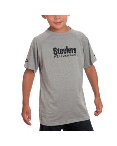 Pittsburgh Steelers Boys Under Armour NFL Combine Tech 2 Grey T-Shirt