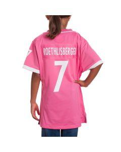 Ben Roethlisberger #7 Girl's Pink Jersey