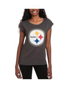 Pittsburgh Steelers '47 Women's Forward Cap Short Sleeve T-Shirt