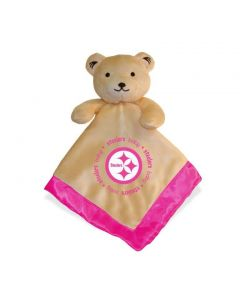 Pittsburgh Steelers Pink Bear Snuggle Blanket
