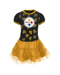 Pittsburgh Steelers Infant Girls Love to Dance Tutu Black Dress