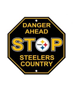 Pittsburgh Steelers Danger Steelers Country Stop Sign
