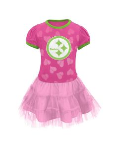 Pittsburgh Steelers Infant Girls Love to Dance Tutu Pink Dress