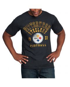 Pittsburgh Steelers GIII Short Sleeve Starter Pigment Dye T-Shirt