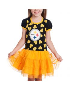 Pittsburgh Steelers Toddler Girls Love to Dance Tutu Dress