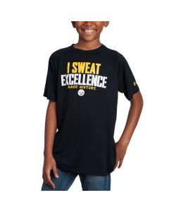 Pittsburgh Steelers Boys Under Armour NFLCombine Tech I Sweat Black T-Shirt