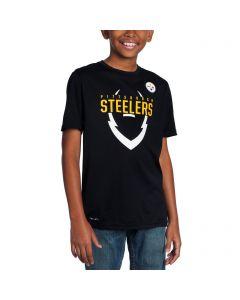 Pittsburgh Steelers Boys Nike Icon Black T-Shirt