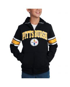Pittsburgh Steelers Boys Helmet Full Zip Hoodie