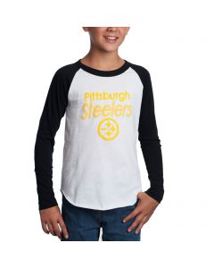 Pittsburgh Steelers Boys All American Raglan T-Shirt
