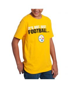 Pittsburgh Steelers Boys It's Not Just Football Gold T-Shirt