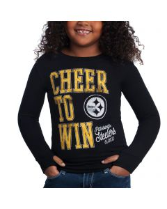Pittsburgh Steelers Girls Cheer to Win Long Sleeve Tee