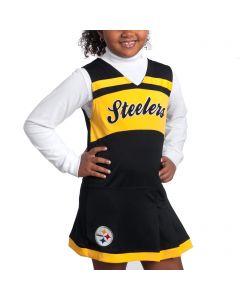 Pittsburgh Steelers Youth Girls Black Cheer Jumper