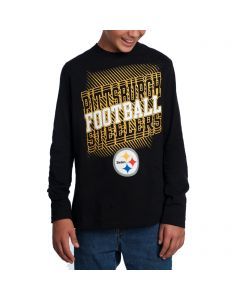 Pittsburgh Steelers Boys Frequency Long Sleeve T-Shirt