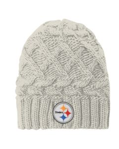 Pittsburgh Steelers Girls Legacy Cable Knit Hat