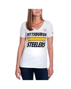Pittsburgh Steelers Nike Women's White Team Stripe T-Shirt