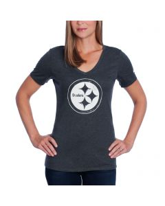 Pittsburgh Steelers Nike Women's Black Tri-Blend Stamp T-Shirt