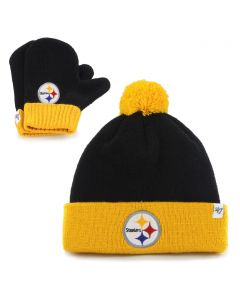 Pittsburgh Steelers Infant Bam Bam Knit Cap Set