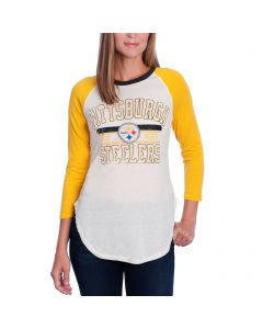 Pittsburgh Steelers Women's Touch 3/4 Sleeve Hang Time T-Shirt