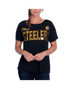 Pittsburgh Steelers Women's Touch by Alyssa Milano In the Game T-Shirt