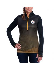 Pittsburgh Steelers Women's Long Sleeve 1/2 Play Action Mock Neck Top