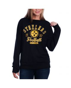 Pittsburgh Steelers Women's New Era Upstairs Fashion Top