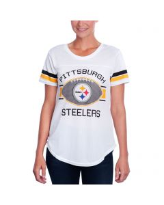Pittsburgh Steelers Women's Short Sleeve Split Yoke Mesh Crew T-Shirt