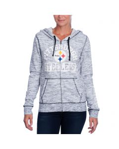 Pittsburgh Steelers Women's New Era Space-Dye Fleece Hoodie