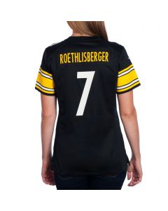 Ben Roethlisberger #7 Women's Nike Replica Home Jersey