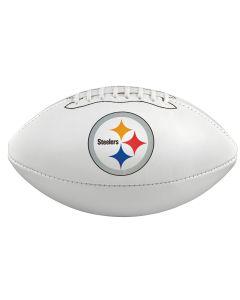 Pittsburgh Steelers Logo And Wordmark White Panel Football