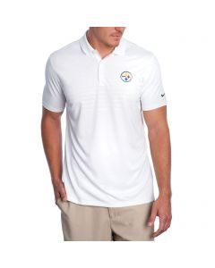 Pittsburgh Steelers Nike Golf Victory Emboss 2.0 White Polo
