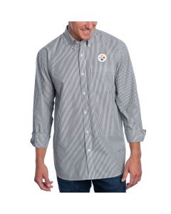 Pittsburgh Steelers Cutter & Buck Epic Easy Care Mini Bengal Button Down