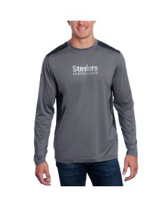 Pittsburgh Steelers Under Armour NFL Combine Long Sleeve Pinnacle Raid T-Shirt
