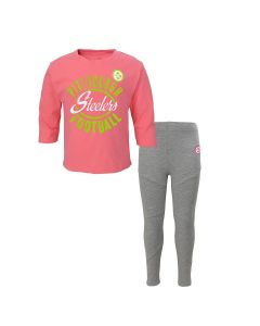 Pittsburgh Steelers Toddler Girls Football Sweetheart Pant Set