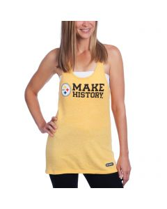 Pittsburgh Steelers Women's Under Armour NFL Combine Make History Gold Racerback Tank