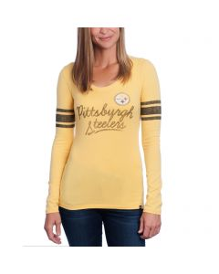 Pittsburgh Steelers '47 Women's Long Sleeve Touchdown Scoop T-Shirt