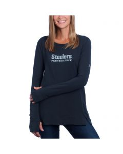 Pittsburgh Steelers Women's Under Armour NFL Combine Pinnacle Long Sleeve T-Shirt